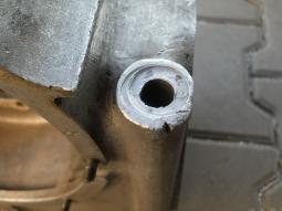 BMW moto veterán před opravou