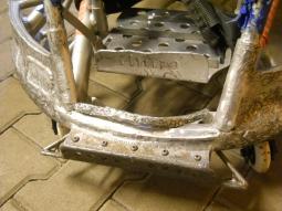 vozík před opravou
