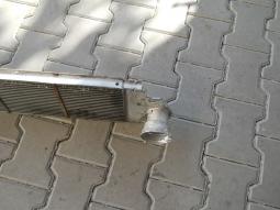 chladič vzduchu - příruba, před opravou